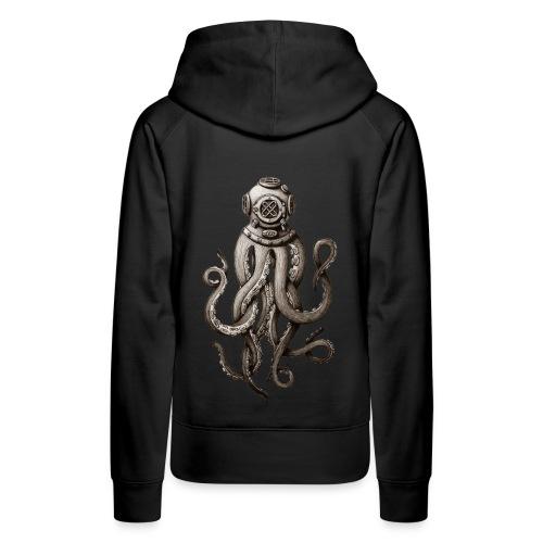 Retro Fashion SCUBA Diver Weird Killer Octopus - Women's Premium Hoodie