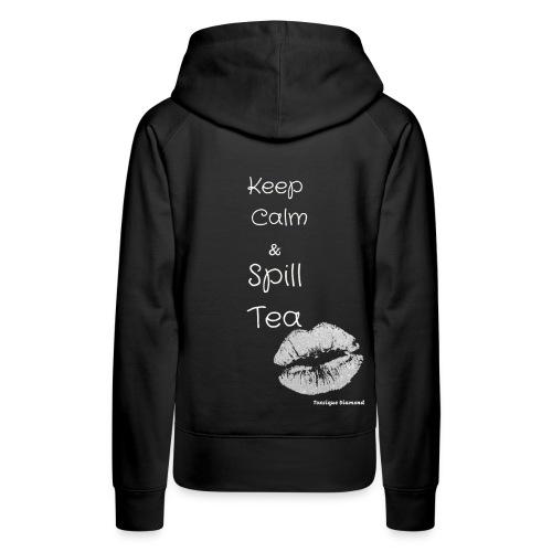 White Calm Lips - Women's Premium Hoodie