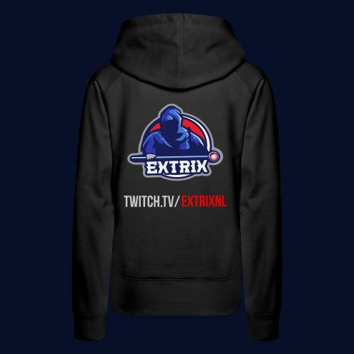 Extrix's Apprentice Logo + Twitch - Women's Premium Hoodie