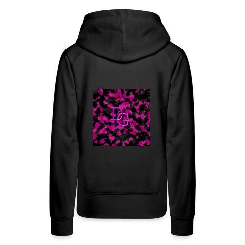 pink camo - Women's Premium Hoodie