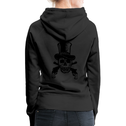 The Gunfighter Skull - Women's Premium Hoodie