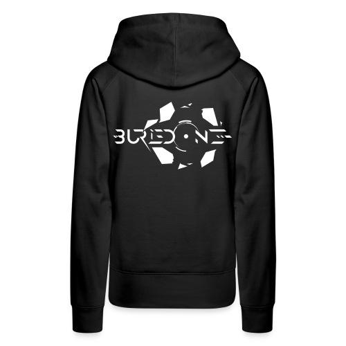 BuriedONE Cryptomining Logo White - Women's Premium Hoodie
