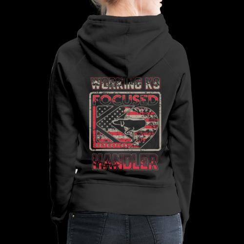 Working K9 Handler: Focused K9 - Women's Premium Hoodie