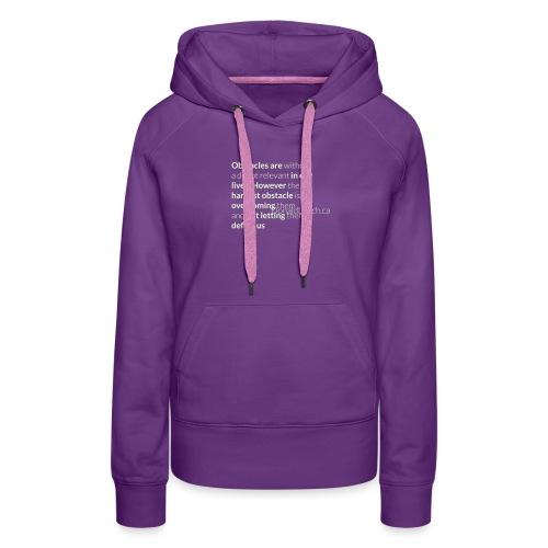 Women: Glow In The Dark Obstacles (Quote) T-Shirt - Women's Premium Hoodie