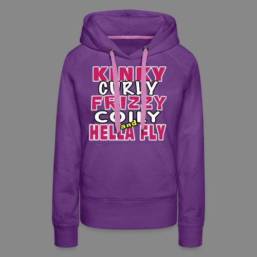 Kinky Curly Frizzy - Women's Premium Hoodie