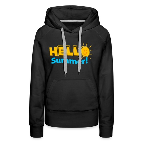 Kreative In Kinder Hello Summer! - Women's Premium Hoodie
