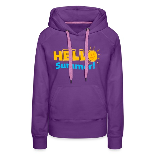Kreative In Kinder Hello Summer! - Women's Premium Hoodie