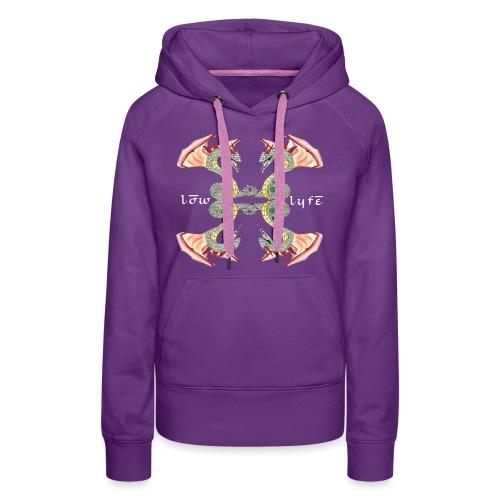 Lowlyfe Logo w/ Exterior Text - Women's Premium Hoodie