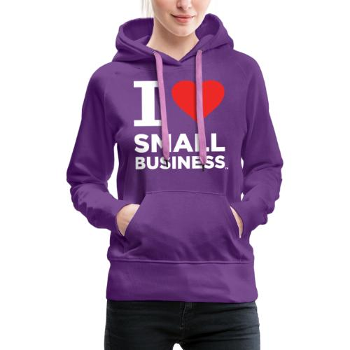 I Heart Small Business Logo (Red & White) - Women's Premium Hoodie