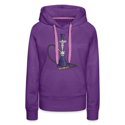 Shisha water pipe (violet) - Women's Premium Hoodie