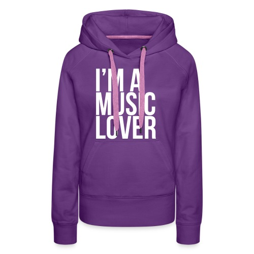 Music Lover big - Women's Premium Hoodie