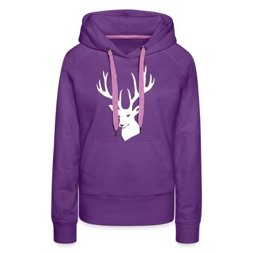 stag night deer buck antler hart cervine elk - Women's Premium Hoodie