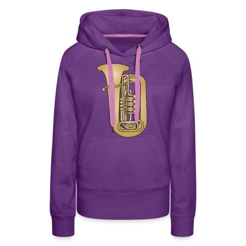 Tuba brass - Women's Premium Hoodie