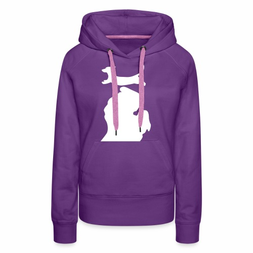 Dachshund Bark Michigan womens shirt - Women's Premium Hoodie