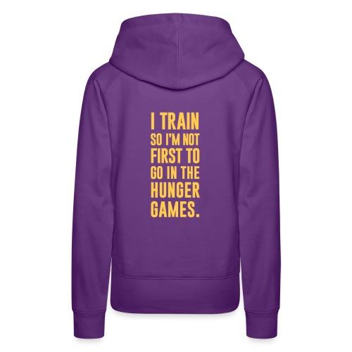 I Train Gym Motivation - Women's Premium Hoodie