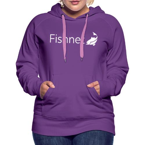 Fishnet (White) - Women's Premium Hoodie