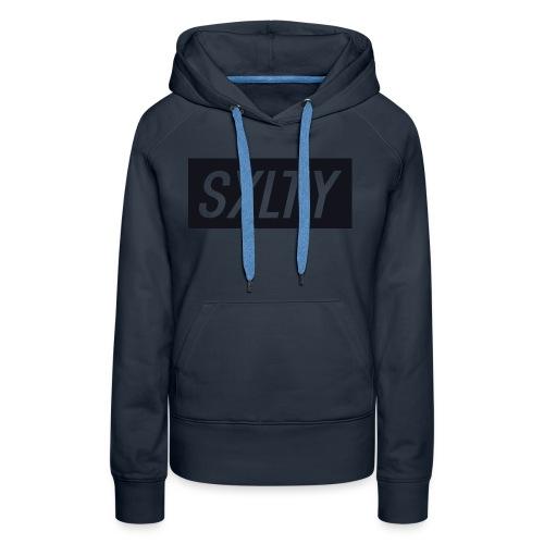 *Dark Blue SXLTY Logo* REGULAR TSHIRT. - Women's Premium Hoodie