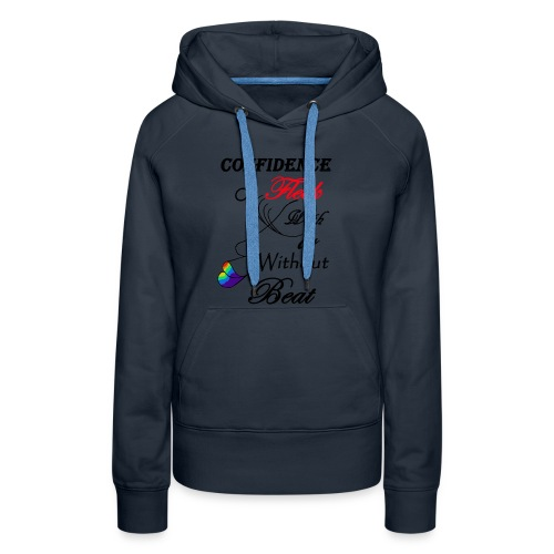 With or Without Beat SpilledPaint- Asphalt - Women's Premium Hoodie