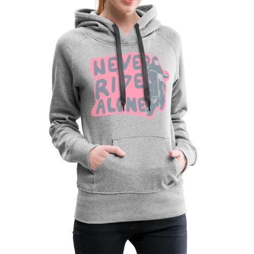 Never Ride Alone White - Women's Premium Hoodie