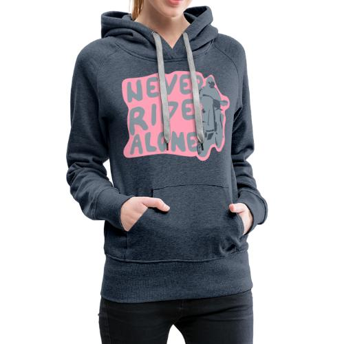 Never Ride Alone White - Women's Premium Hoodie
