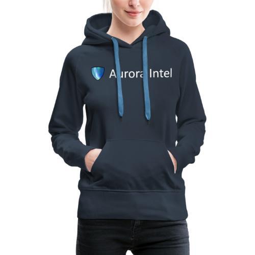 Aurora Intel horizontal text - Women's Premium Hoodie