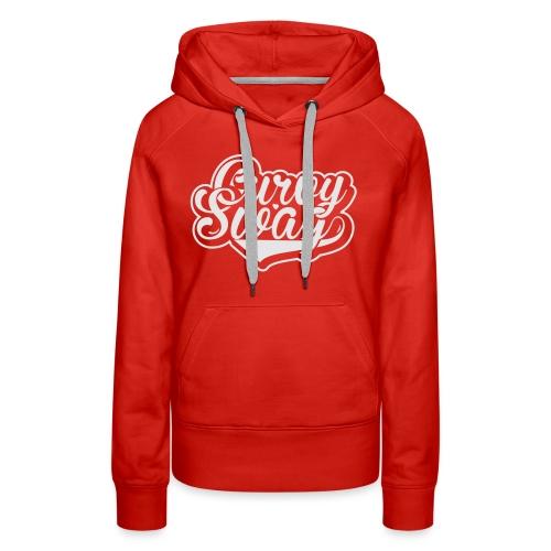 Curvy Swag Reversed Out Design - Women's Premium Hoodie