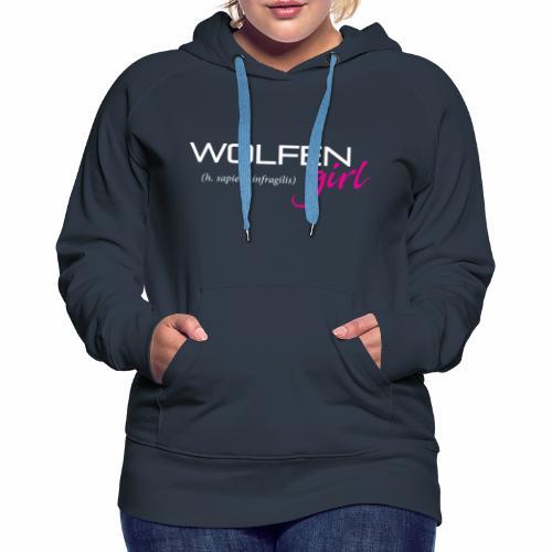 Wolfen Girl on Dark - Women's Premium Hoodie