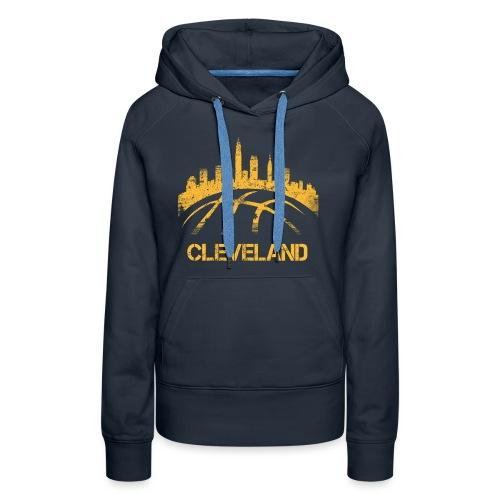 Cleveland Basketball Skyline - Women's Premium Hoodie