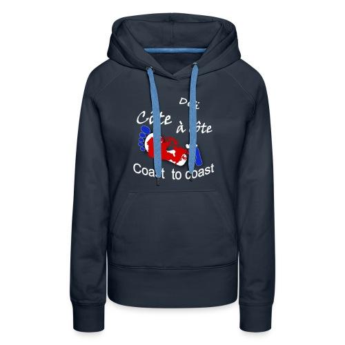logo Côte à côte_blanc - Women's Premium Hoodie