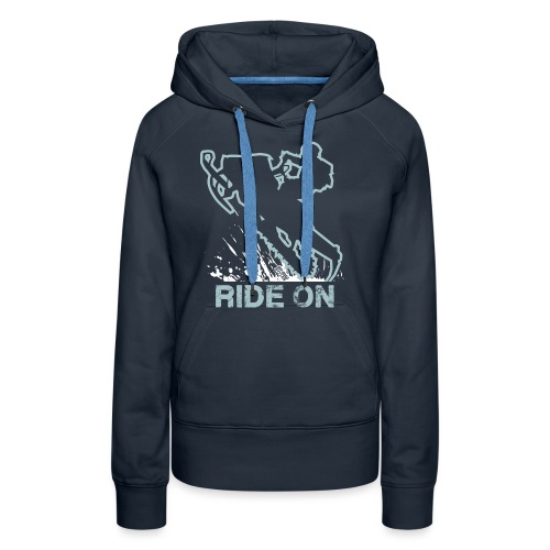Snowmobile Ride On Sled - Women's Premium Hoodie