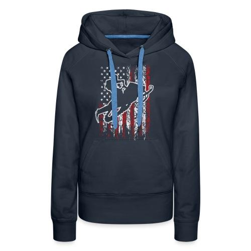 Snowmobiling USA Flag - Women's Premium Hoodie