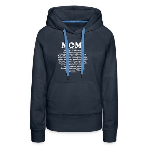 Mom Definition, Mother Definition, Great Mom - Women's Premium Hoodie