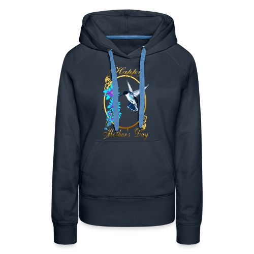 Mother's Day with humming birds - Women's Premium Hoodie