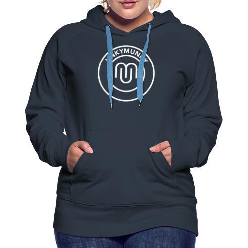 UnkyMunky logo white - Women's Premium Hoodie