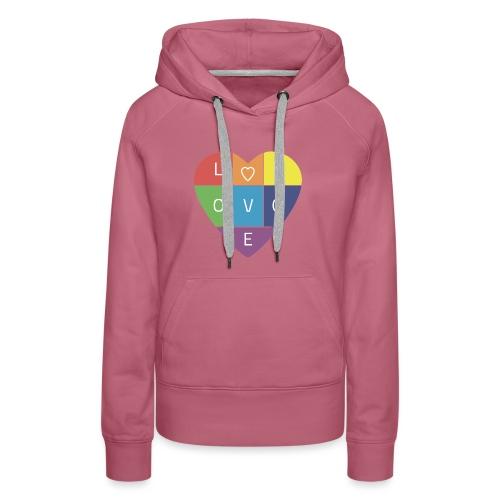 Rainbow Heart - Women's Premium Hoodie