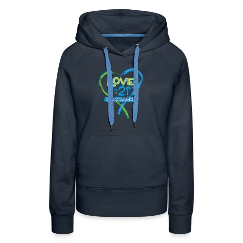 Down Syndrome Love (Blue) - Women's Premium Hoodie