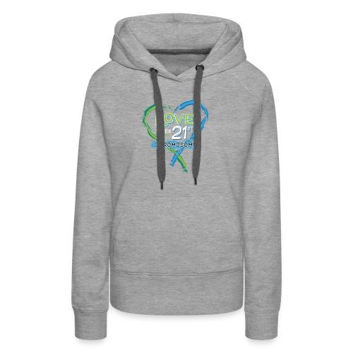 Down Syndrome Love (Blue/White) - Women's Premium Hoodie