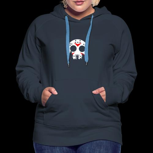 Haunted Halloween Hockey Mask - Women's Premium Hoodie