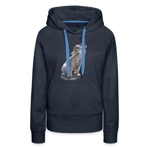 Little Howling Wolf - Women's Premium Hoodie