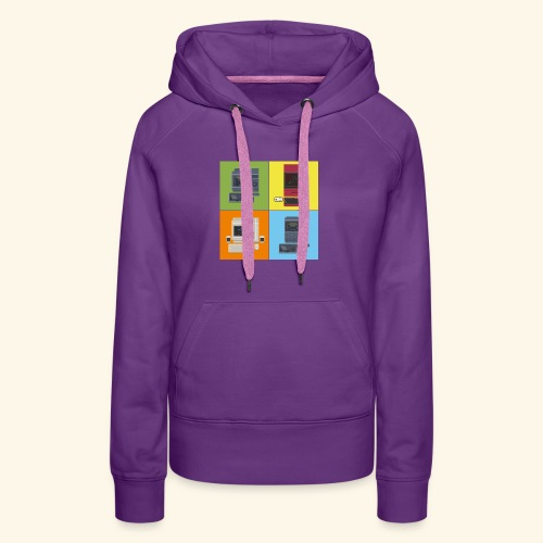 japanese computers color - Women's Premium Hoodie