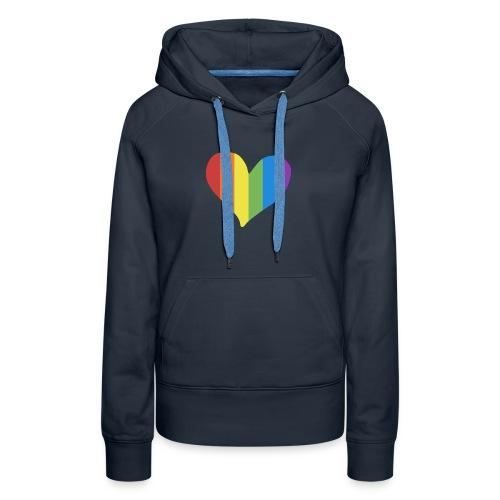 Pride Rainbow Heart - Women's Premium Hoodie