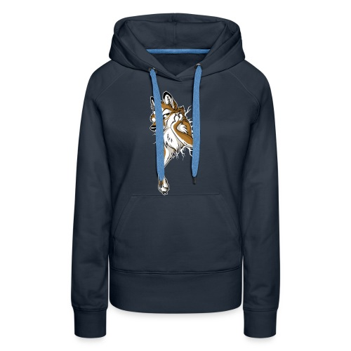 STUCK Wolf Caramel (double-sided) - Women's Premium Hoodie