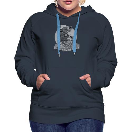 Quitate de la Via Perico B n W transparent - Women's Premium Hoodie