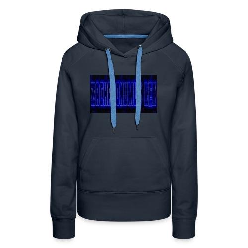 blue fire logo - Women's Premium Hoodie