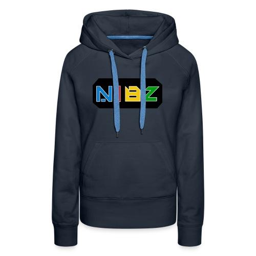 NibZcolorfuldesignlogo - Women's Premium Hoodie
