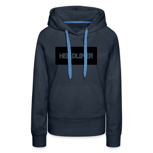 HEADLINER LOGO TRANSPARENT ON BLACK - Women's Premium Hoodie