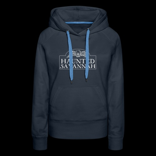 Haunted Savannah Tours Logo (White and Transparent - Women's Premium Hoodie
