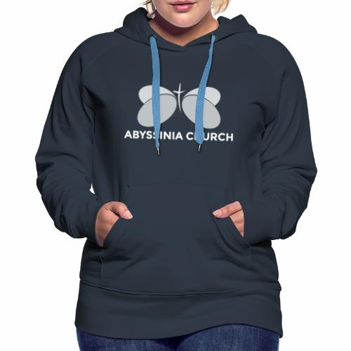 Abyssinia Baptist Church- White Logo - Women's Premium Hoodie