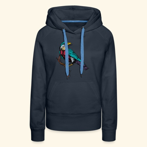 Colorful Bird Design - Women's Premium Hoodie