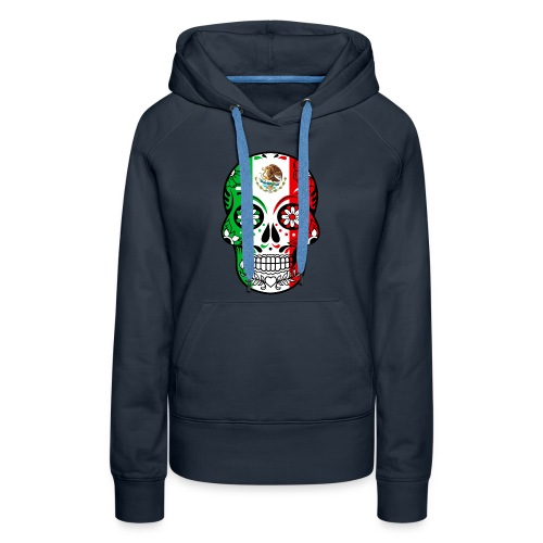 Mexican Flag Calavera T Shirt - Women's Premium Hoodie